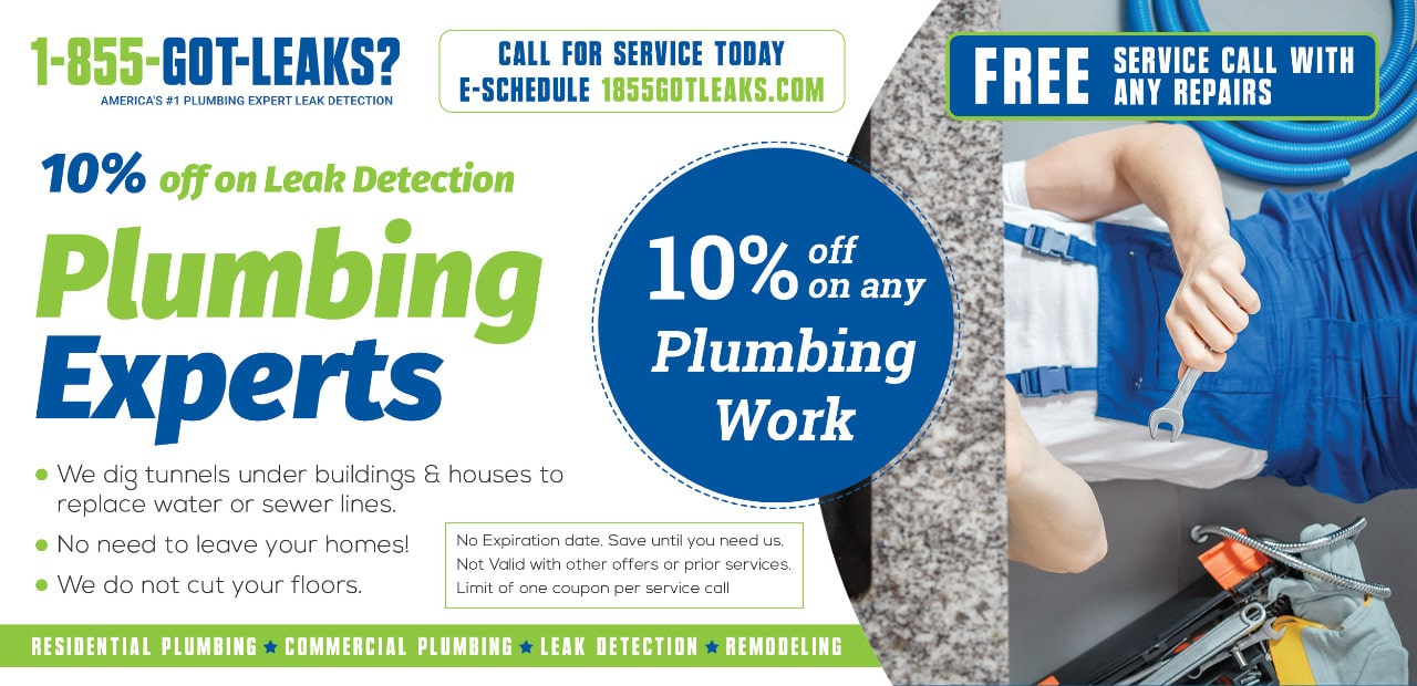 discount card-leak detection and plumbing service